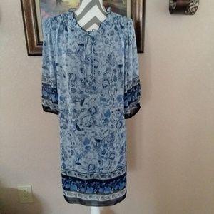 Enfocus Studio Front Tie Shift Loose Dress 14W